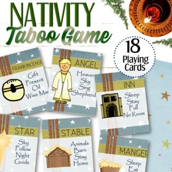 Nativity Christmas Taboo Game