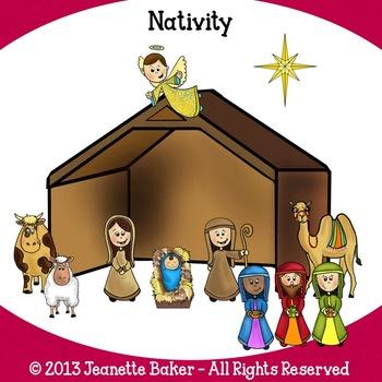 Nativity Clip Art by Jeanette Baker