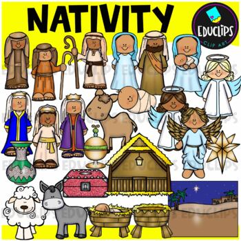 Nativity Clip Art Bundle {Educlips Clipart}
