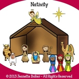 Nativity Clip Art by Jeanette Baker