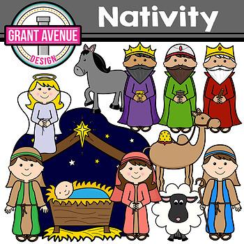 Nativity Clipart - The Christmas Story Clip Art