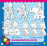 Nativity Clipart Black and White, Christmas, Baby Jesus, t