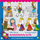 Nativity Clipart, Christmas, three wise men Set 115