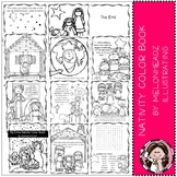 Nativity - Color Book - Printable - Melonheadz clipart