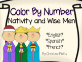 Nativity Color By Number in English, Spanish, and French