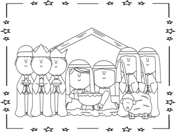 Nativity Color Pages