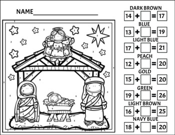 Nativity Color by Number 2/Addition