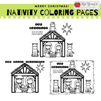 Free Nativity Coloring Pages Printable Coloring Home - Coloring Pages | 350x350