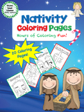 Nativity Coloring Pages - Christmas Coloring Activity