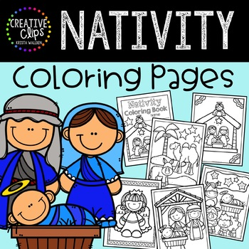 Nativity Coloring Pages: Christmas Coloring Pages | TpT