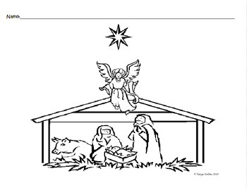 Nativity Coloring Sheets Worksheets & Teaching Resources | TpT | 270x350
