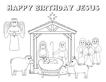 Coloring page : Christmas Jesus born - Coloring.me | 270x350