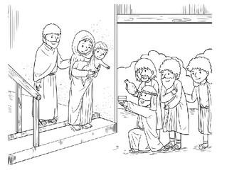 Christmas (Nativity) Comic Strip and Storyboard