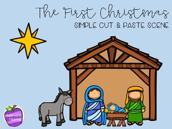 Nativity Cut and Paste Scene
