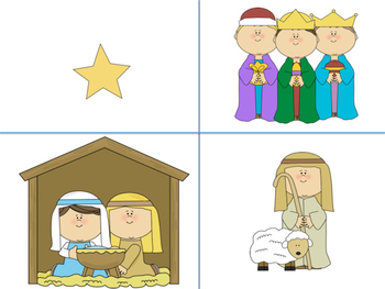 Nativity Cutting and Coloring Activity