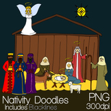 Nativity Doodle Clip Art Set
