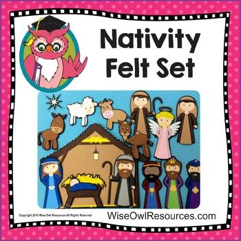 Nativity Felt Set - 16 LARGE Pieces