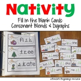 Nativity Fill in the Blank Cards {Consonant Blends & Digraphs}