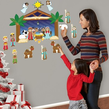 Nativity Interactive Wall Play Set + Downloadable Story Audio File
