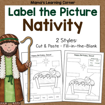 Nativity Label the Picture Pages