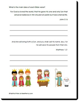 Nativity Language Arts Printable Activity Pack