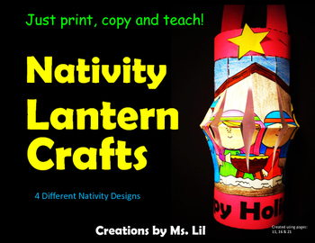 Nativity Lantern Crafts ::  Nativity Craft  ::  Fine Motor Skills