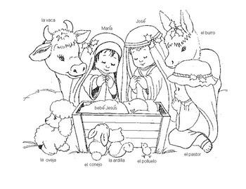 Nativity Manger Scene in Spanish