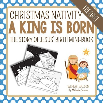 Nativity Mini-Book FREEBIE {The Story of Jesus' Birth}