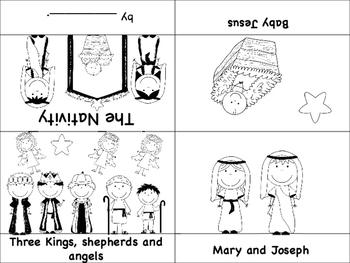 Nativity Mini Books - English and Spanish - Bilingual, Spanish, ESL/ENL