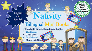 Nativity Mini Books - English and Spanish - Bilingual, Spa