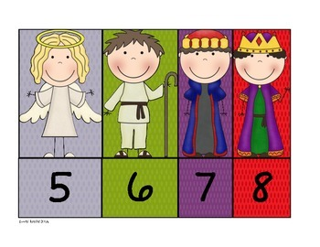 Nativity Number Matching 0 - 10