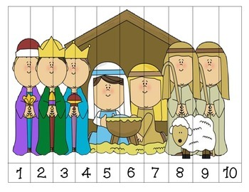 Nativity Number Order Puzzles {Dollar Deal}