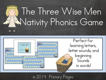 Nativity Phonics Game- An Alphabet Literacy Center