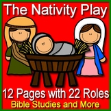 Nativity Play Readers Theater Distance Learning - 22 Roles! The Christmas Story