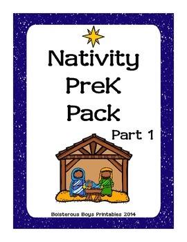 Nativity Preschool Printable Pack - Part 1