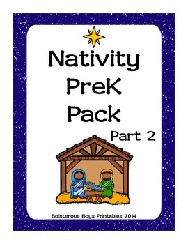 graphic regarding Nativity Printable called Nativity Preschool Printable Pack - Aspect 2