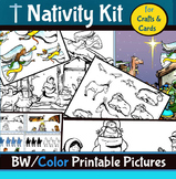 Nativity Printables for Crafts and Cards Kit! 60+ Pages!
