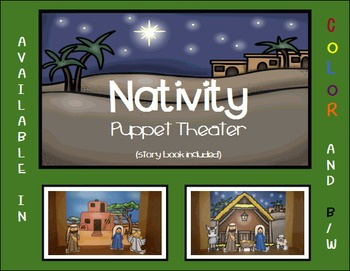 Nativity Puppet Theater and Story Book