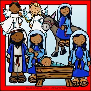 Nativity Scene Clip Art Set - Chirp Graphics