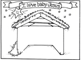 Nativity Scene Cut and Paste