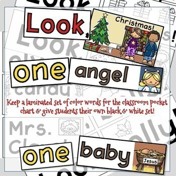 Nativity Reader - First Christmas PreEmergent Sight Word Reader and Activities!