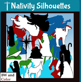 Nativity Silhouette Clip-Art! 154 Pieces! 25 Images!