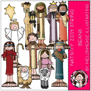 Nativity String Beans 2014 by Melonheadz COMBO PACK