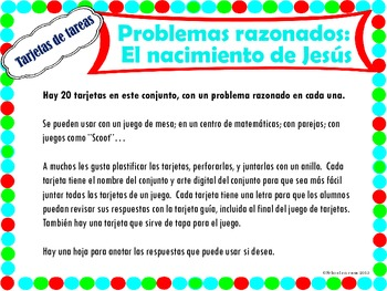 Nativity Task Cards in Spanish {Dual Immersion}