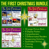 Christmas Nativity Story   Easy Reader   Sequencing   Comprehension   Bundle
