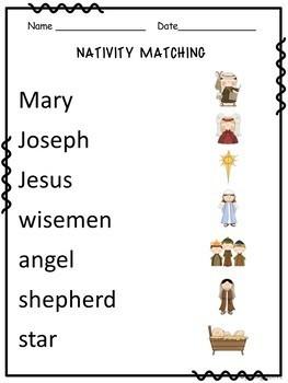 Nativity Theme Matching Game