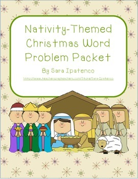 Nativity-Themed Christmas Word Problem Packet