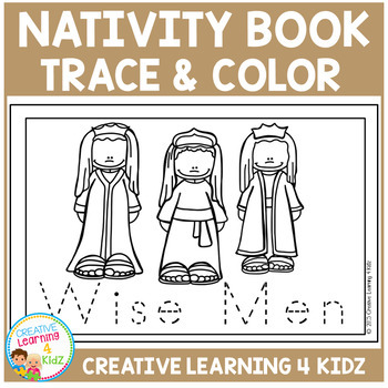 Nativity Trace & Color Book Christmas