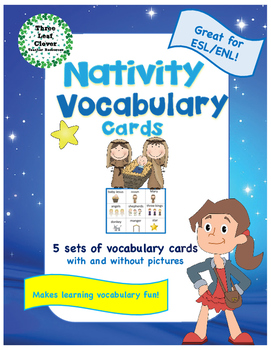 Nativity Vocabulary Cards - Great for ESL/ENL
