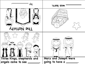 Nativity Vocabulary Cards and Mini Books BUNDLE